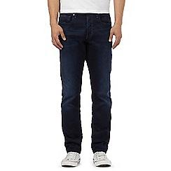 G-Star - Blue dark wash '3301' tapered jeans