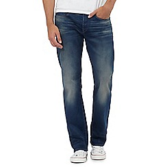 G-Star - Blue mid wash '3301' loose jeans