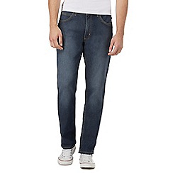 Lee - Big and tall vintage wash blue 'Brooklyn' straight jeans