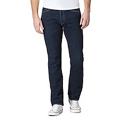 Levi's - Blue dark wash '501' straight jeans