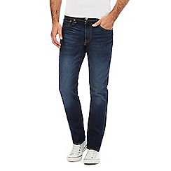 Levi's - Big and tall dark blue '502' mid wash tapered jeans