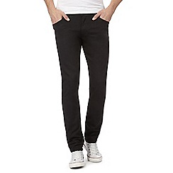 Wrangler - Black 'Larston' slim tapered jeans