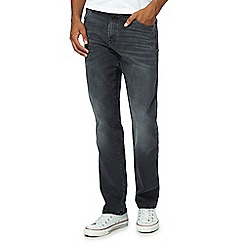 Wrangler - Dark grey 'Texas' straight leg jeans