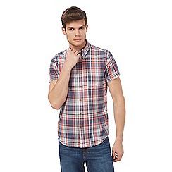 Wrangler - Pink and grey checked short sleeved shirt