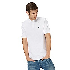 G-Star - White embroidered logo slim fit polo shirt