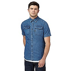 G-Star - Blue denim slim shirt