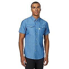 G-Star - Blue denim slim fit shirt