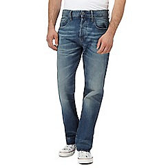 G-Star - Blue vintage wash '3301' straight leg jeans