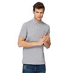 G-Star - Grey embroidered logo slim fit polo shirt