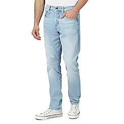 G-Star - Blue vintage wash '3301' tapered jeans
