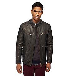 Racing Green - Brown biker jacket