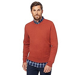 Racing Green - Big and tall orange v-neck jumper