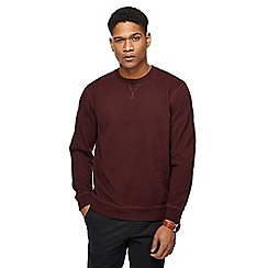 Racing Green - Big and tall dark red grindle crew neck sweatshirt