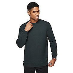 Racing Green - Big and tall dark green grindle crew neck sweatshirt