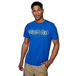 Racing Green - Bright blue bike wheels print t-shirt