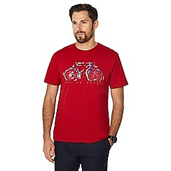 Racing Green - Big and tall red bike print t-shirt