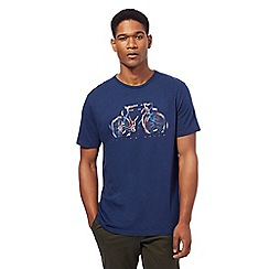 Racing Green - Big and tall navy bike print t-shirt