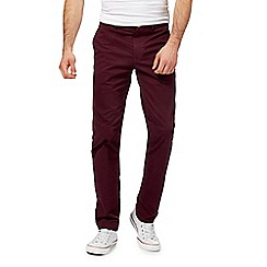 Racing Green - Big and tall dark red chino trousers
