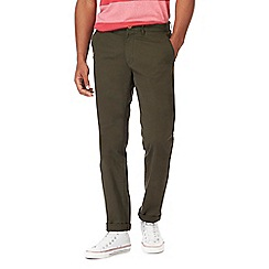Racing Green - Big and tall dark green chino trousers