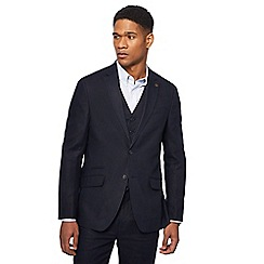 Racing Green - Big and tall navy linen blazer