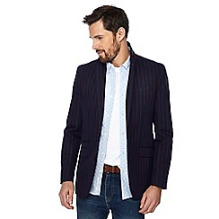 Racing Green - Big and tall navy striped regular blazer