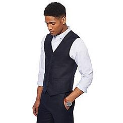 Racing Green - Navy linen waistcoat