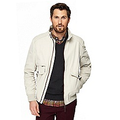 Racing Green - Big and tall off white harrington jacket
