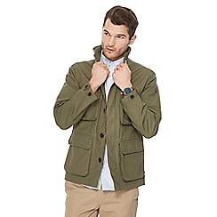 Racing Green - Big and tall khaki shirt jacket