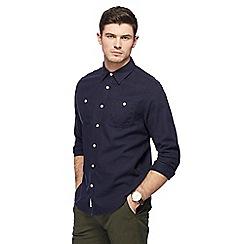 Racing Green - Big and tall navy long sleeve shirt