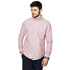 Racing Green - Big and tall pink oxford tailored fit shirt