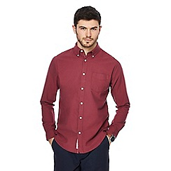 Racing Green - Big and tall red oxford tailored fit shirt
