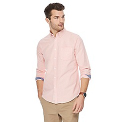 Racing Green - Big and tall peach oxford shirt