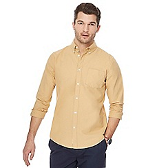 Racing Green - Big and tall mustard oxford shirt