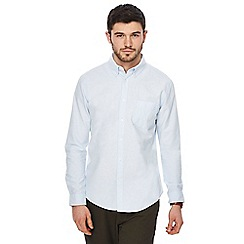 Racing Green - Big and tall pale blue oxford tailored fit shirt