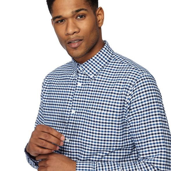 blue gingham royal Big check shirt tailored Racing tall fit and oxford Green nqaXwxW1A