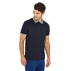 Racing Green - Big and tall navy triple tipped collar cotton polo shirt
