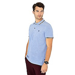Racing Green - Blue triple tipped collar cotton polo shirt