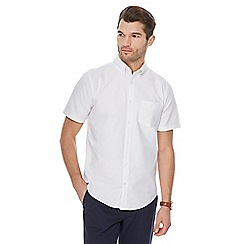 Racing Green - Big and tall white oxford shirt