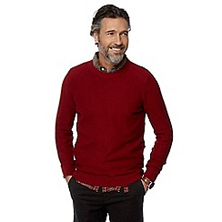 Racing Green - Big and tall dark red crew neck jumper