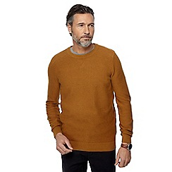 Racing Green - Big and tall dark yellow crew neck jumper