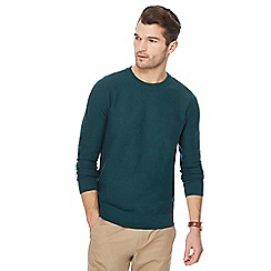 Racing Green - Big and tall dark green crew neck jumper