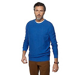 Racing Green - Big and tall blue crew neck jumper