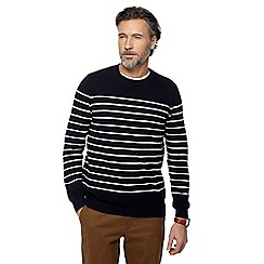 Racing Green - Big and tall navy striped jumper
