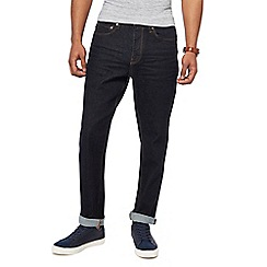 Racing Green - Dark blue tapered fit jeans