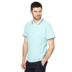Racing Green - Big and tall aqua blue polo shirt