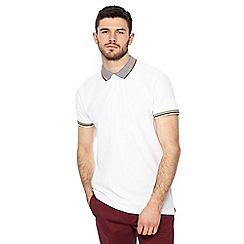 Racing Green - Big and tall white polo shirt