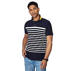 Racing Green - Big and tall navy striped polo shirt