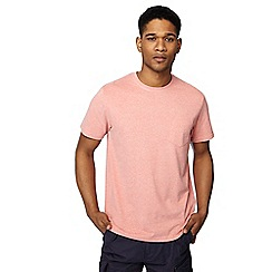 Racing Green - Big and tall pink marl t-shirt