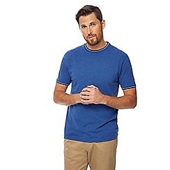 Racing Green - Big and tall blue tipped t-shirt