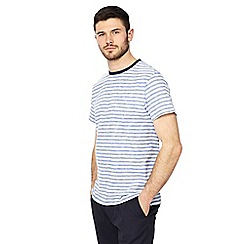 Racing Green - Blue feeder striped t-shirt